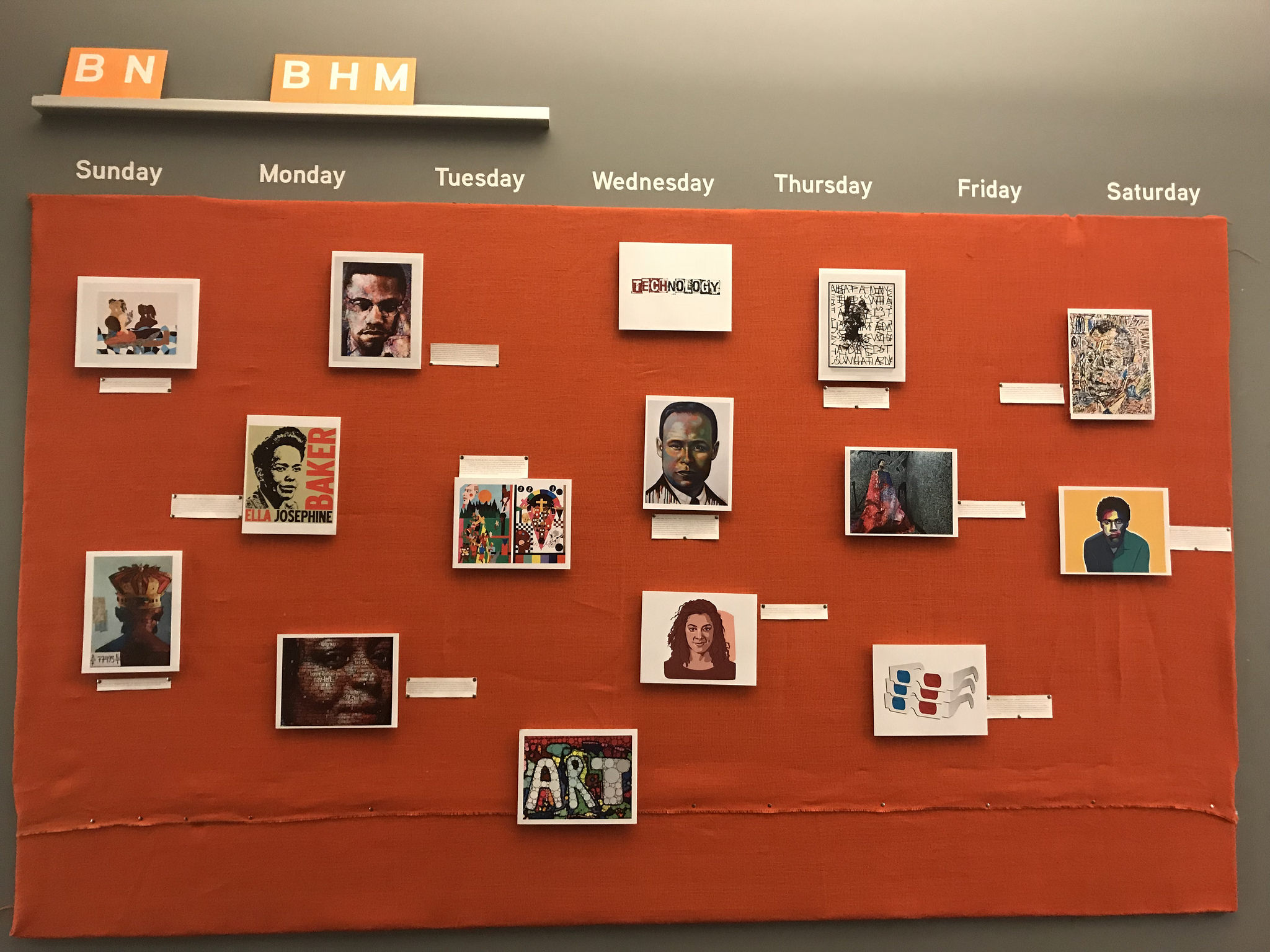 Black History Month gallery wall